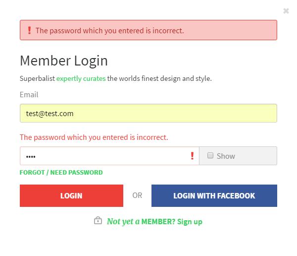 superbalist-password-incorrect